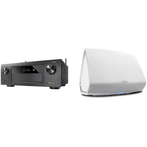 Denon AVR-X4300H 9.2-Channel Network A/V Receiver with HEOS 5 Series 2 Wireless Speaker Kit (White)