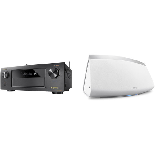 Denon AVR-X4300H 9.2-Channel Network A/V Receiver with HEOS 7 Series 2 Wireless Speaker Kit (White)