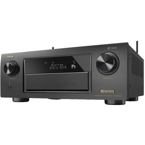 Denon AVR-X6300H 11.2-Channel Network A/V Receiver with HEOS 3 Series 2 Wireless Speaker Kit (Black)