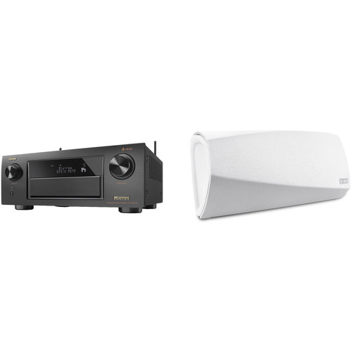 Denon AVR-X6300H 11.2-Channel Network A/V Receiver with HEOS 3 Series 2 Wireless Speaker Kit (White)