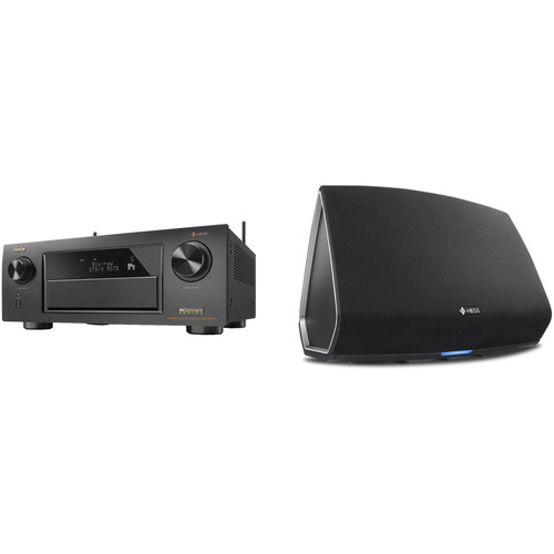 Denon AVR-X6300H 11.2-Channel Network A/V Receiver with HEOS 5 Series 2 Wireless Speaker Kit (Black)