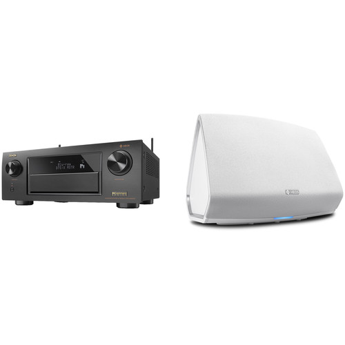 Denon AVR-X6300H 11.2-Channel Network A/V Receiver with HEOS 5 Series 2 Wireless Speaker Kit (White)