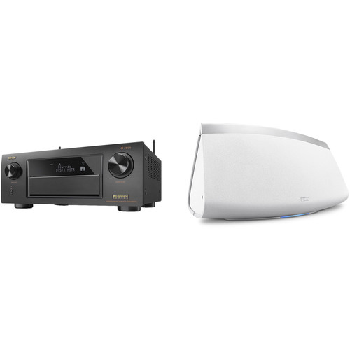 Denon AVR-X6300H 11.2-Channel Network A/V Receiver with HEOS 7 Series 2 Wireless Speaker Kit (White)
