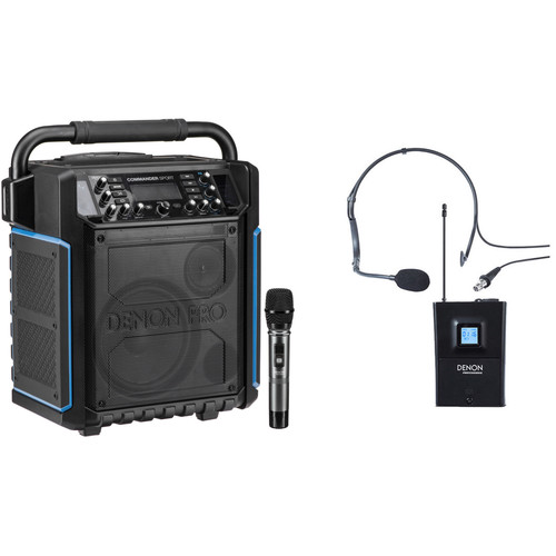 Denon Commander Sport PA with Wireless Handheld Mic and Headset Mic Kit