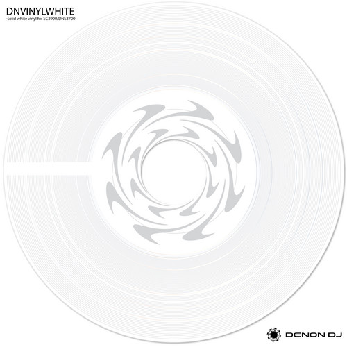 Denon DJ Accessory Vinyl for SC3900 and DN-S3700 Turntable (White)