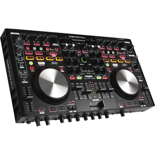 Denon DJ MC6000MK2 Professional Digital Mixer and Controller Kit with Flight Case & Sliding Shelf