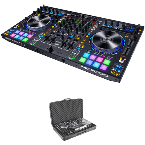 Denon DJ MC7000 4-Channel Serato DJ Controller Kit with Carrying Bag