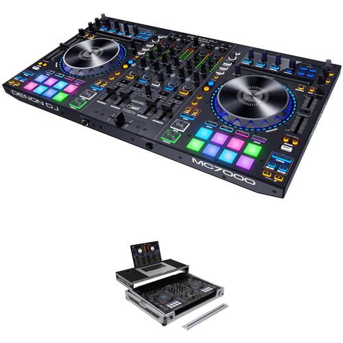 Denon DJ MC7000 4-Channel Serato DJ Controller/Mixer with Flight Case Kit