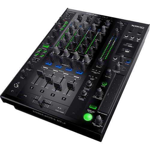 Denon DJ X1800 Prime - Professional 4-Channel DJ Club Mixer with Smart Hub