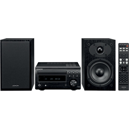 Denon D-M41SBK 60W Bluetooth Wireless Music System with CD Player