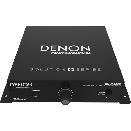 Denon DN-200AZB Amplifier with Bluetooth Receiver (70/100V/4 Ohms, 20W RMS)