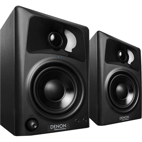 Denon DN-303S Active Desktop Monitor Speakers and USB Studio Microphone Kit