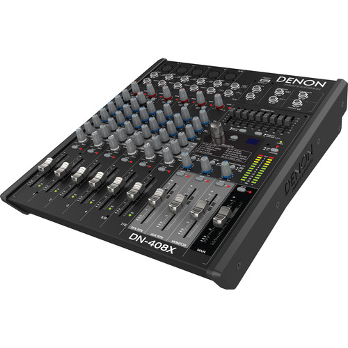 Denon DN-408X 2-Bus Tabletop Mixer (8-Channel)