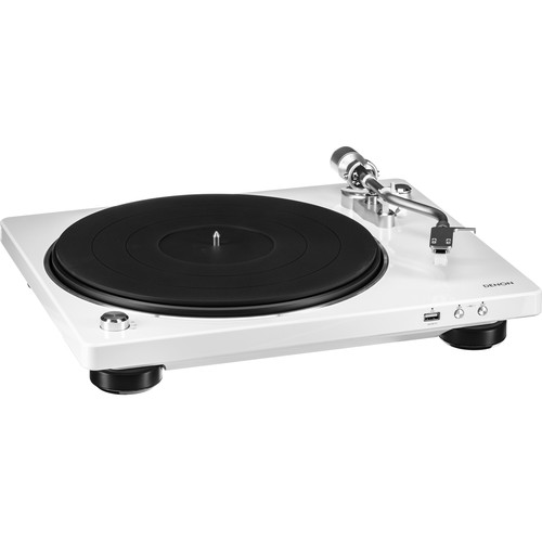 Denon DP-450 Stereo Turntable with USB (White)