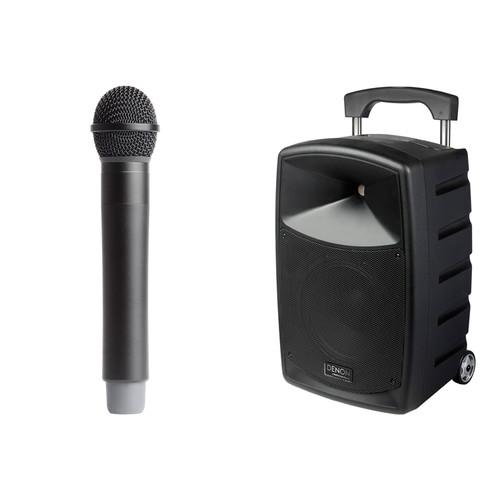 Denon Envoi Portable PA System Kit with Handheld Wireless Mic, Speaker & Mic Stands and Padded Speaker Bag