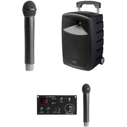 Denon Envoi Portable PA System Kit with Dual-Channel Wireless Handheld Microphones