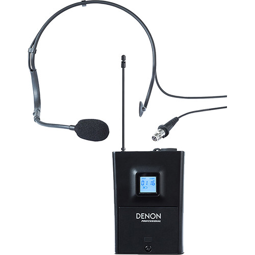 Denon Fitness Pack Beltpack Transmitter and Headset Microphone for Audio Commander and Commander Sport