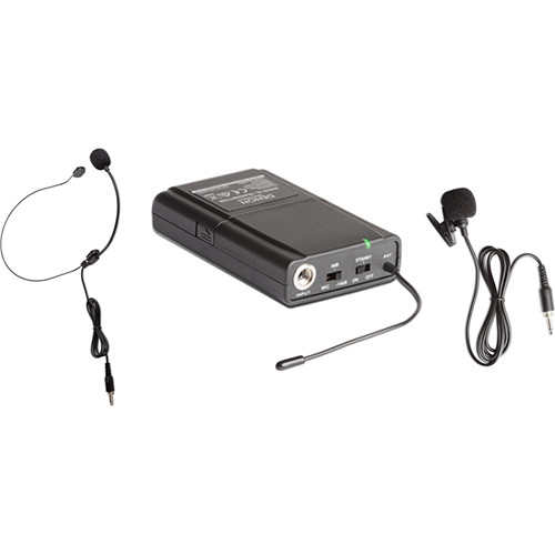 Denon Envoi Belt Pack Transmitter With Headset Mic And Lapel Mic