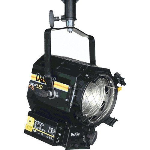 DeSisti Super F6 Daylight-Balanced LED Fresnel Light (Manually Operated)