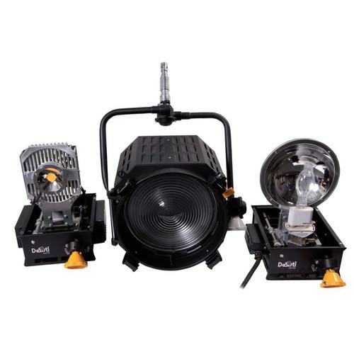 DeSisti EZ-4S LED 120W Daylight CCT Manual-Operated Retrofit Kit for Leonardo Piccolo 2kW Tungsten Fresnel Spotlight