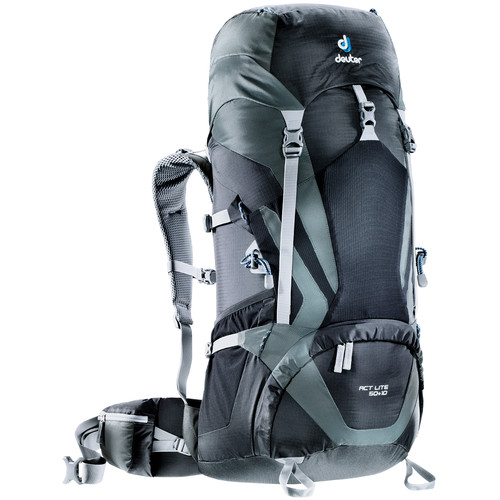 Deuter Sport ACT Lite 50 + 10 Backpack (Black/Granite)