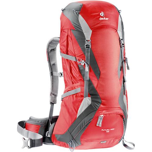 Deuter Sport Futura Pro 42 Backpack (Fire/Granite)