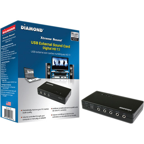 Diamond Xtreme Sound XS71U_V2 External USB Sound Card