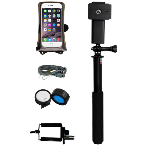 "DiCAPac DRS-C1 Floating Monopod Bundle with Bluetooth 4.0 Remote Control for 5.1"" Smartphone"