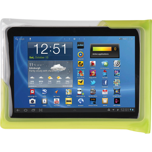 "DiCAPac Waterproof Case for 10"" Tablets (Green)"