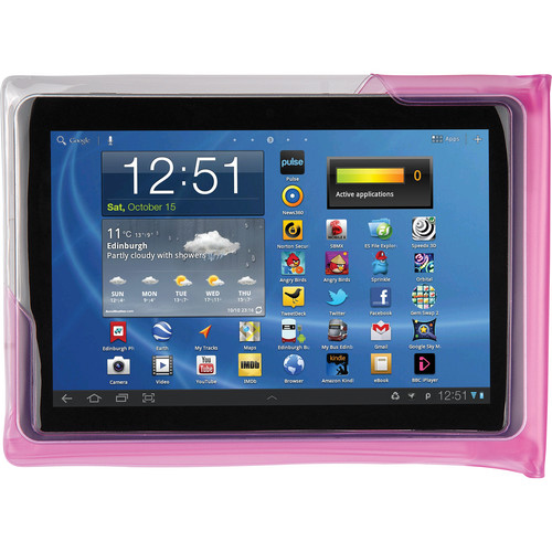 "DiCAPac Waterproof Case for 10"" Tablets (Pink)"