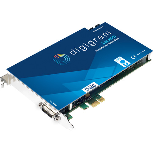 Digigram PCIE Card with 4X Stereo AES/EBU I/O with SRC and Word Clock I/O for Windows/Linux