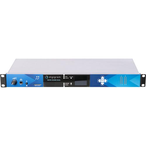Digigram 1RU 2XSt.IP Audio Codec f/STL/SSL Apps.4 I/O Channels/2 Stereo AES/EBU I/Os,4 I/O Channels/LvWr/48V