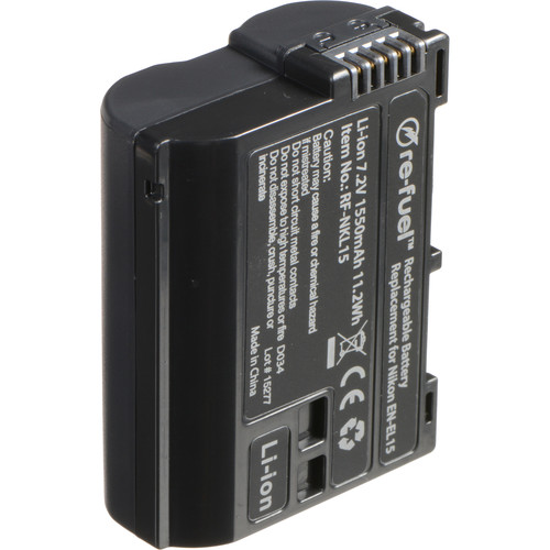DigiPower Re-Fuel EN-EL15 Rechargeable Lithium-Ion Battery (7.2V, 1550mAh)