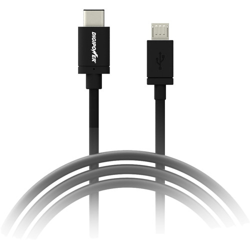 DigiPower Re-Fuel USB 2.0 Type-C to Micro-USB Cable