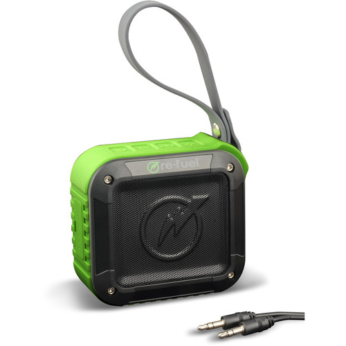 DigiPower Refuel XT Bluetooth Outdoor Speaker (Black and Green)