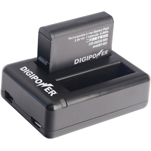 DigiPower Re-Fuel HERO4 Dual Battery Charger and Battery Kit