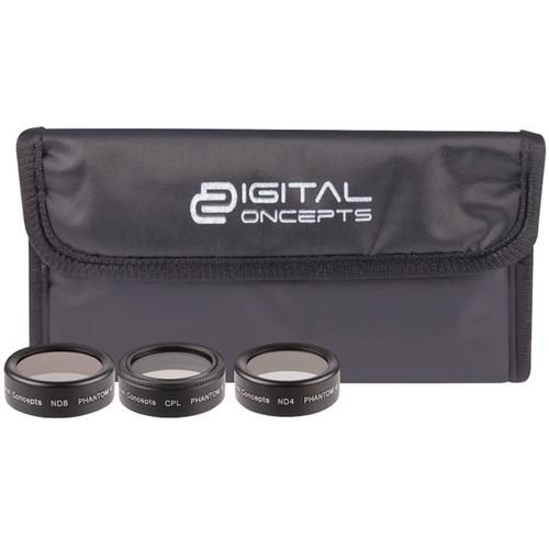 Digital Concepts Filter Kit for DJI Phantom 4 Pro (3-Pack)
