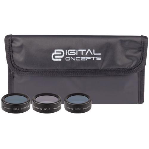 Digital Concepts ND Filter Kit for DJI Phantom 4 Pro (3-Pack)