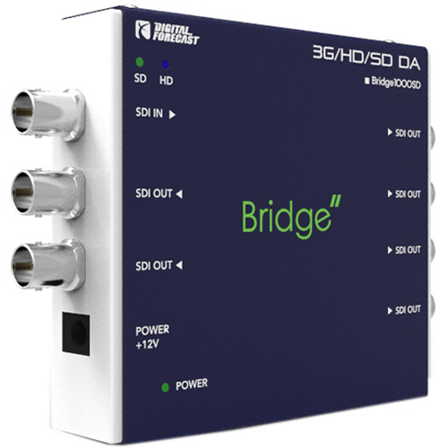 DIGITAL FORECAST Bridge Mini 3G/HD/SD-SDI & ASI 1x6 Distribution Amplifier with Reclocking