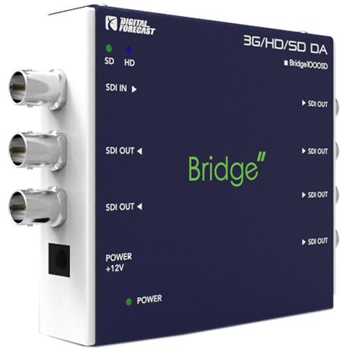 DIGITAL FORECAST Bridge Mini 3G/HD/SD-SDI & ASI 1x6 Distribution Amplifier with Reclocking