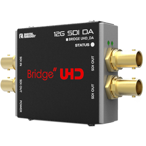 DIGITAL FORECAST Bridge UHD 4K DA for SD/HD/FHD/6G/12G with Re-Clocker and Equalizer (1-Input/3-Outputs)