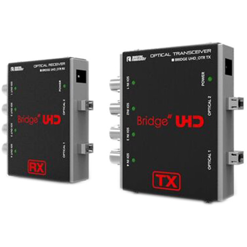 DIGITAL FORECAST Bridge UHD Optical Quad 3G-SDI Transceiver Input and 4 Channels Receiver Output (Up to 6.2mil)