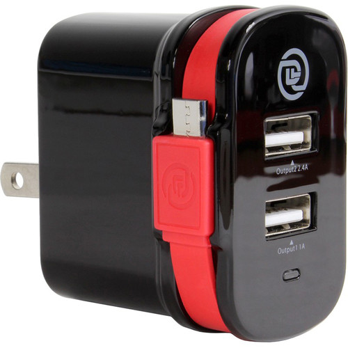 DIGITAL TREASURES ChargeIt! Dual Output Wall Charger with Micro-USB Cable