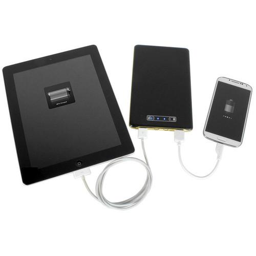 DIGITAL TREASURES ChargeIt PowerGlide Slim Portable 15,000mAh Power Bank (Black)