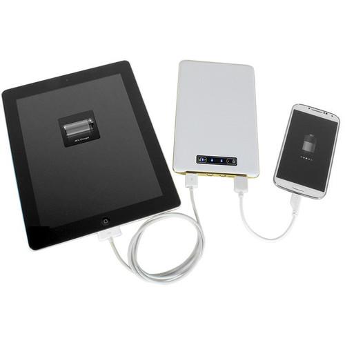 DIGITAL TREASURES ChargeIt PowerGlide Slim Portable 15,000mAh Power Bank (White)