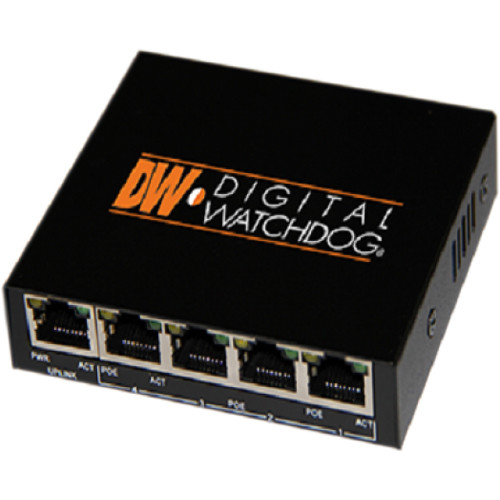 Digital Watchdog DW-POE4 4-Port Fast Ethernet PoE Switch