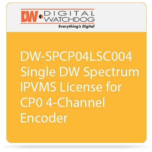 Digital Watchdog DW-SPCP04LSC004 Single DW Spectrum IPVMS License for CP0 4-Channel Encoder