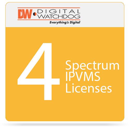 Digital Watchdog 4 Spectrum IPVMS Recording Licenses