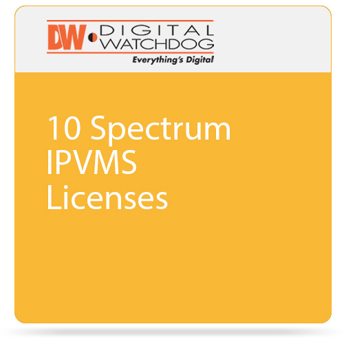 Digital Watchdog 10 Spectrum IPVMS Licenses
