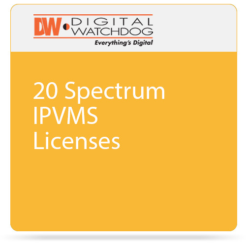 Digital Watchdog 20 Spectrum IPVMS Licenses